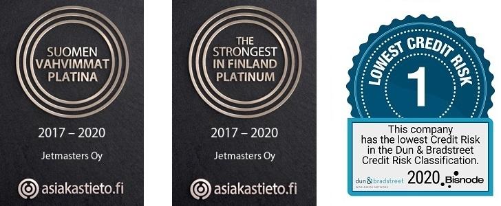 Suomen vahvimmat 2020 sertifikaatti